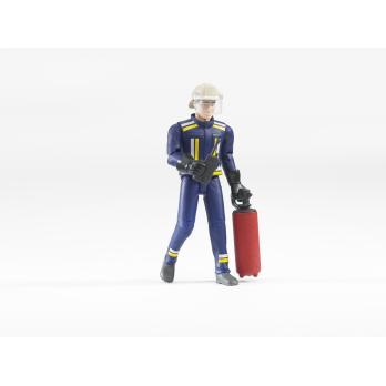Feuerwehrmann mit Zubehör